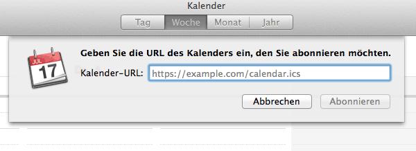 Apple URL einfügen