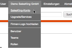 SalesKing-Konto