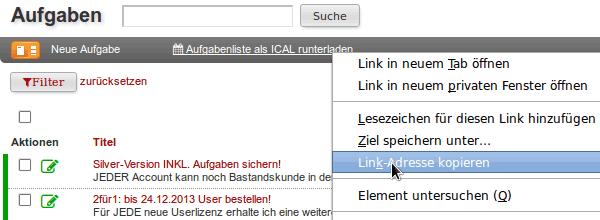 Aufgaben URL